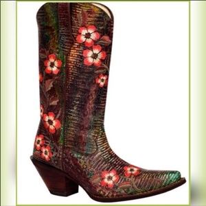 Leather Embroidery Cowboy Boots by Durango 7 1/2""